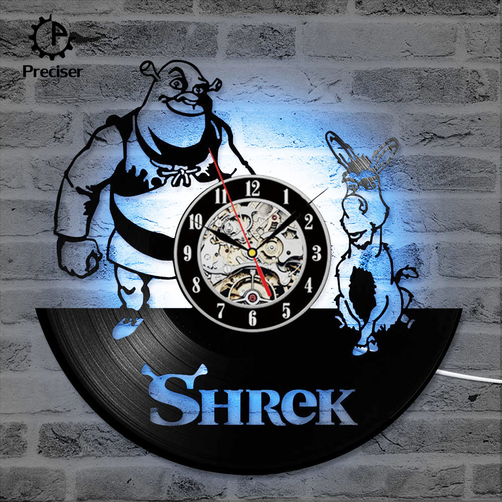 Shrek Handmade Design Vinyl Wall Clock Living Room Home Decor